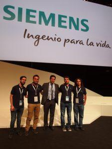 El equipo de Megavatio con Sergio de Siemens.